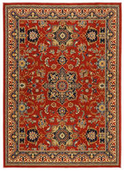 Karastan English Manor Manchester Crimson Area Rug