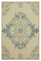 Karastan Vintage Tapis Crown Jewel Aqua Area Rug