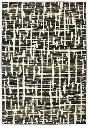 Karastan Panache Grasscloth Black Area Rug