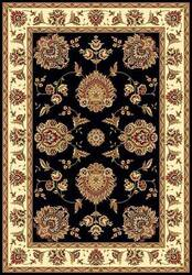 Kas Cambridge Floral Mahal Black-Ivory 7339 Area Rug