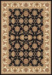 Kas Cambridge Kashan 7313 Black Ivory Area Rug