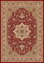 Kas Cambridge Kashan Medallion 7326 Red Beige Area Rug