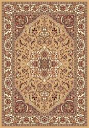Kas Cambridge Kashan Medallion 7328 Beige Ivory Area Rug