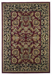 Kas Cambridge Kashan Red/Black 7301 Area Rug