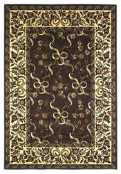 KAS Cambridge Floral Ribbons Plum/Ivory 7311 Area Rug