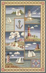 Kas Colonial Costal Views Blue 1806 Area Rug