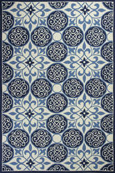Kas Colonial 1822 Ivory / Blue Area Rug