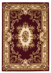 KAS Corinthian Aubusson Red-Ivory 5308 Area Rug