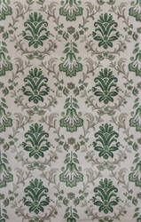 KAS Emerald 9038 Ivory/Green Damask Area Rug