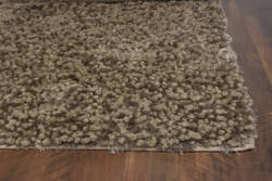 KAS Essence 576 Coffee Chunky Shag Area Rug