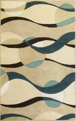 Kas Eternity 1093 Ivory/Blue Area Rug
