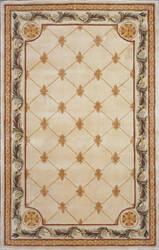 Kas Jewel Fleur-De-Lis Antique Ivory 310 Area Rug