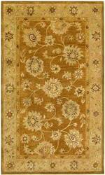 KAS Kasmir All over Kashan Coffee-Beige 4807 Area Rug
