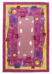 KAS Kolorful Kidz Ocean Friends Pink 4117 Area Rug