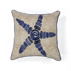 Kas Starfish Pillow L109 Natural - Blue