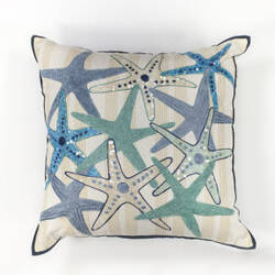 Kas Starfish Pillow L110 Ivory - Blue