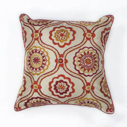 Kas Mosaic Pillow L122 Ivory - Red