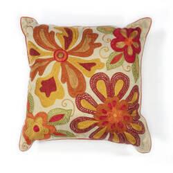 Kas Sea Flora Pillow L123 Ivory - Red