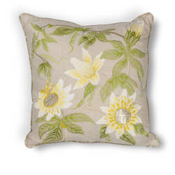 Kas Sunflowers Pillow L193 Taupe