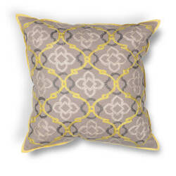 Kas Medaln Pillow L197 Yellow - Grey
