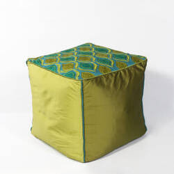 Kas Tribeca Pouf F811 Teal - Green
