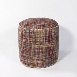 Kas Textures Pouf F822 Red