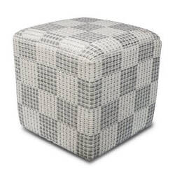 Kas Cotton Pouf F837 Ivory