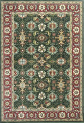 KAS Shiraz 5005 Emerald/Red Mahal Area Rug