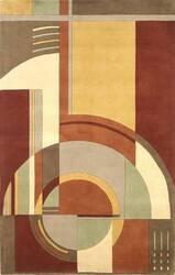 Kas Signature Art Deco Rust-Coffee 9134 Area Rug
