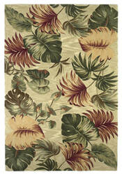 Kas Sparta Palm Leaves Beige 3148 Area Rug