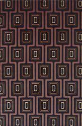 KAS Tate City Grid 8510 Black Area Rug