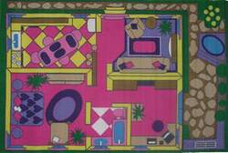 Fun Rugs Fun Time Dollhouse FT-057 Multi Area Rug