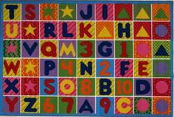 Fun Rugs Fun Time Numbers & Letters FT-2011-P Multi Area Rug