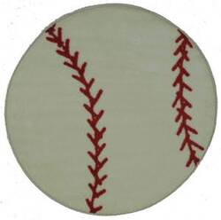 Fun Rugs Fun Time Shape Baseball FTS-005 Multi Area Rug