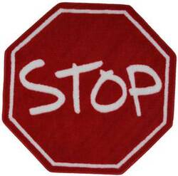 Fun Rugs Fun Time Shape Stop Sign FTS-029 Multi Area Rug