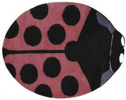 Fun Rugs Fun Time Shape Pink Lady Bug FTS-074 Multi Area Rug