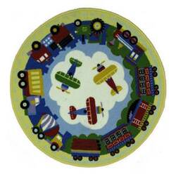 Fun Rugs Olive Kids Round TPT OLKS-025 Multi Area Rug