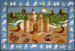 Fun Rugs Olive Kids Sand Castle OLK-050 Multi Area Rug