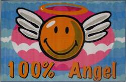 Fun Rugs Smiley World Smiley Angel SW-14 Multi Area Rug
