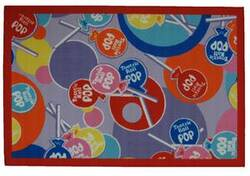Fun Rugs Tootsie Roll Tootsie Roll Pop TR-02 Multi Area Rug
