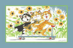 Fun Rugs Wags and Whiskers Duckport Kitties Take A Ride WW-04 Area Rug