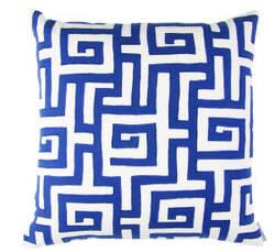 Lili Alessandra Onasis Pillow L218 White - Navy