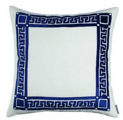 Lili Alessandra Dimitri Pillow L245 White - Navy