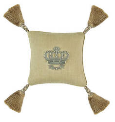 Lili Alessandra Imperial Crown Pillow L320 Natural