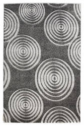 Linon Milan Mn21 Black / Grey Area Rug