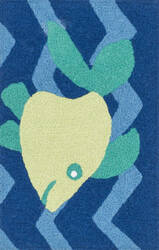 Loloi Angelou AN-09 Blue / Yellow Area Rug