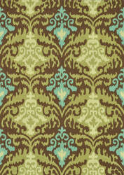 Loloi Francesca Fc-15 Brown / Green Area Rug