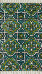 Loloi Aria AR-27 Blue / Lime Area Rug