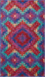 Loloi Isabelle IS-03 Red / Teal Area Rug