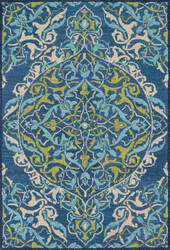 Loloi Mayfield Mf-16 Blue / Lime Area Rug